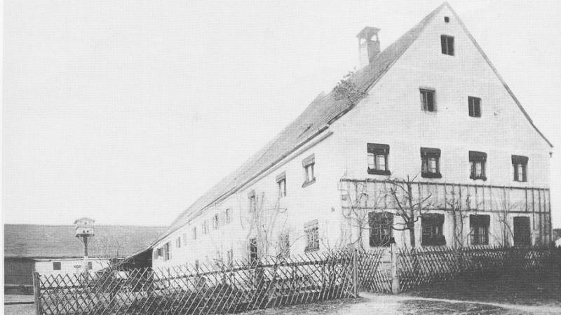 Very old photograph of Hotel Seitner Hof in Pullach in the Isar Valley